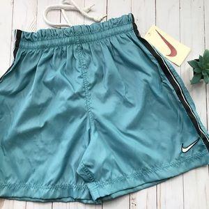 Vintage NIKE Blue/ Black Striped Running Shorts M